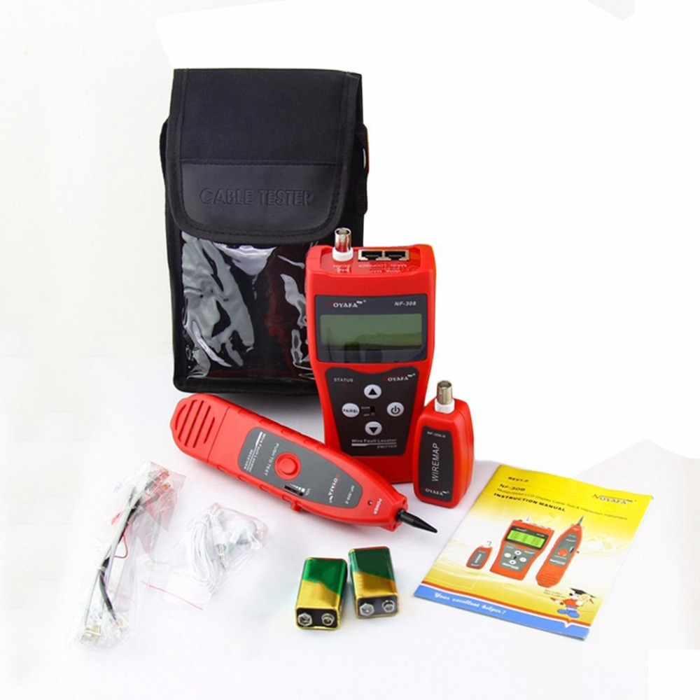 Noyafa NF-308 Multipurpose LCD Display Network Telephone Cable Tester Tracker Line Finder Wire Tester Cable Locator цена