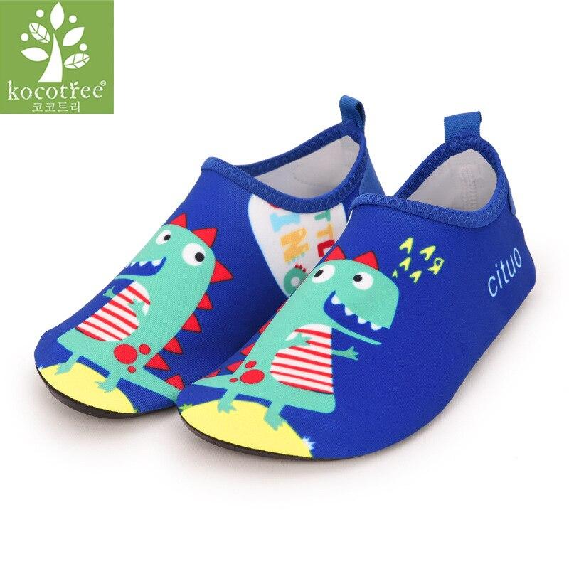 603f722317a Zapatillas de dinosaurio para niños, calcetines para el cuidado de la piel  para niñas, zapatos suaves para correr de interior para niños, zapatos para  nadar ...