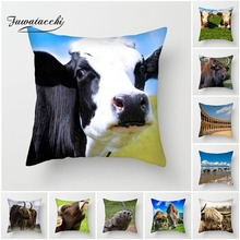 Fuwatacchi Animal Cushion Cover Spanish Bullfighting Cow Pillows for Home Sofa Decorative Pillowcases 45*45 cm New 2019