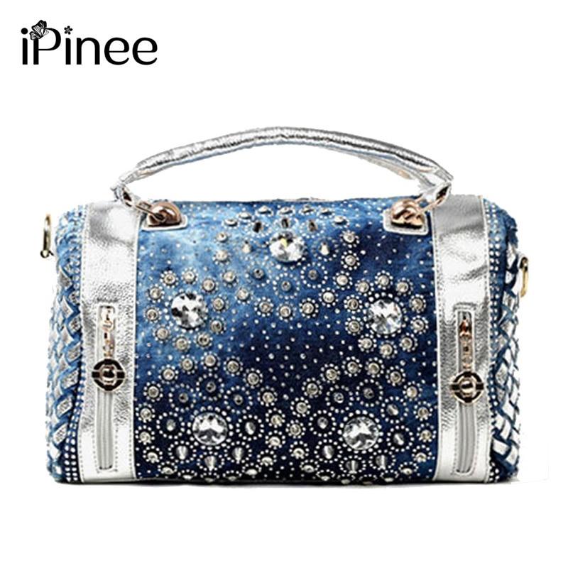 iPinee nyári divat női kézitáska tervező gyémánt dekoráció oxford táskák alkalmi női pénztárca strand táska