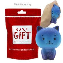 Jumbo Galaxy Cute Kitten Squishy Slow Rising Kids Toys Doll Stress Relief Toy Decor Strap Pendant Decompression Antistress Toys(China)