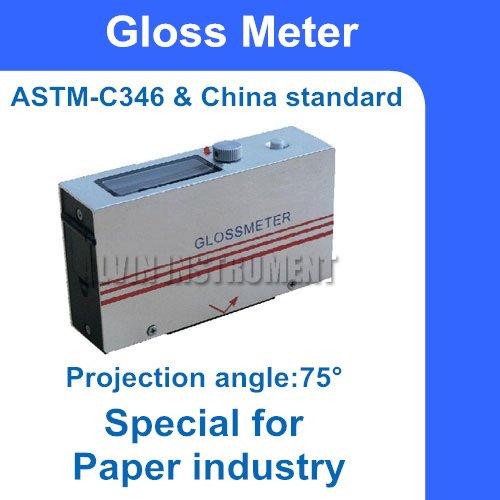 Бумажный промышленный измеритель блеска, глоссметр 0~ 199.9gs угол проекции: 75 градусов точность:+-1.2GS