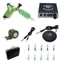 Rotary Tattoo Machine Gun Kit with Digtal Tattoo Power Supply Needles Grip for Tattoo Supply KT001