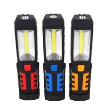 COB LED Magnetic Work Light Car Garage Mechanic Home Rechargeable Torch Lamp Stand Hanging Portable lantern USB