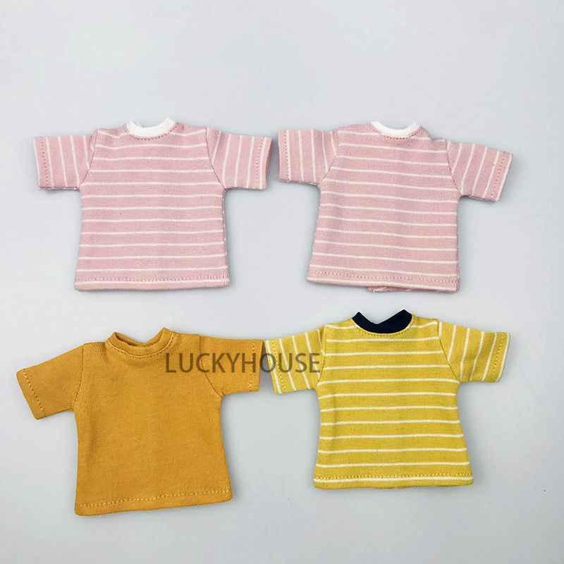 1 шт., футболка Blyth Doll, одежда, подходящая для рубашки barbies momoko, pullip, azone, Blyth кукла 1/6 DC129