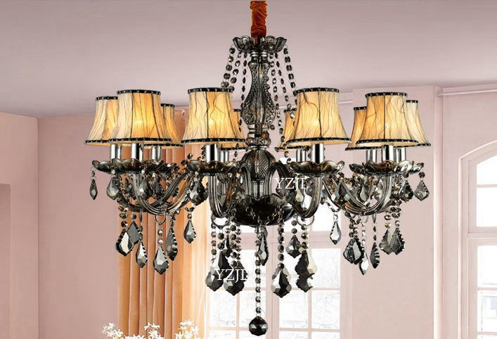 Smoked Chandelier Light Crystal Chandelier Bedroom Dining