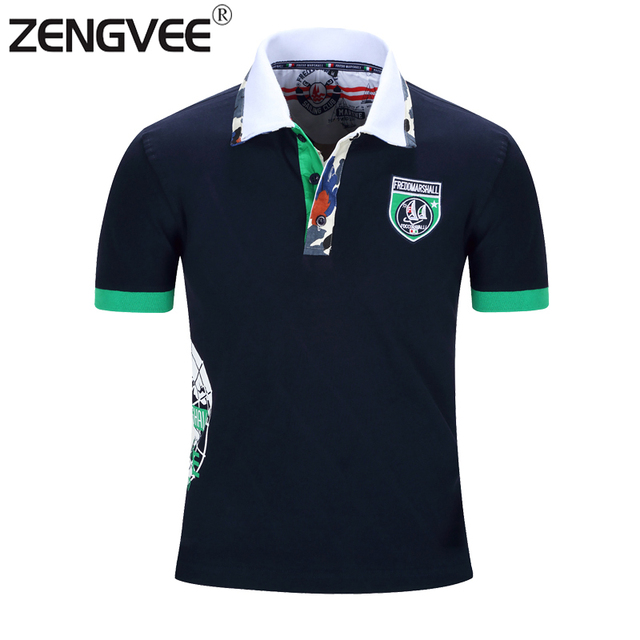 Fashion Casual Men New Polo Shirt Shield Style Summer Breathable Short Sleeve High Quality Cotton Polo Europe and America Size