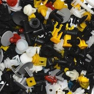 Image 4 - 100 ADET Karışık Oto Fastener Rastgele Araba Çamurluk plastik klipler Araç Tampon Klipler Oto Tutucu Fastener Perçin Kapı Paneli Astar