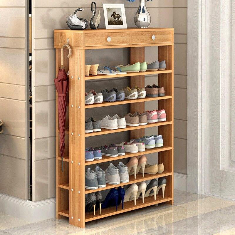 Современные деревянная стойка для обуви для гостиная коридор пыле хранения обуви мебель дома organizador де zapatos обувной шкаф