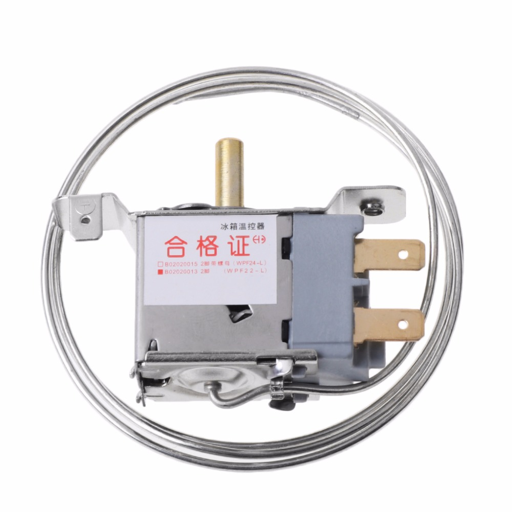 WPF22-L 2Pin Refrigerator Thermostat Household Metal Temperature Controller New цена