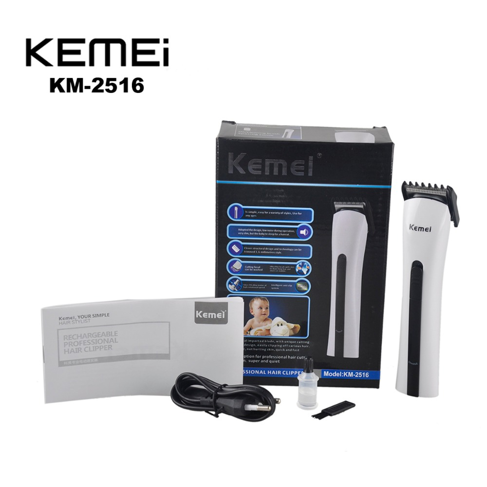 Kemei KM-2516 Rechargeable Electric Hair Clipper Trimmer Professional Shaver Razor Cordless Adjustable Clipper Hair Scissors цена и фото