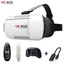 Original Caja de VR 3d gafas de Realidad Virtual móvil Auricular jefe de Montaje de Gafas Google Cartón Casco VRBOX + Remote + OTG