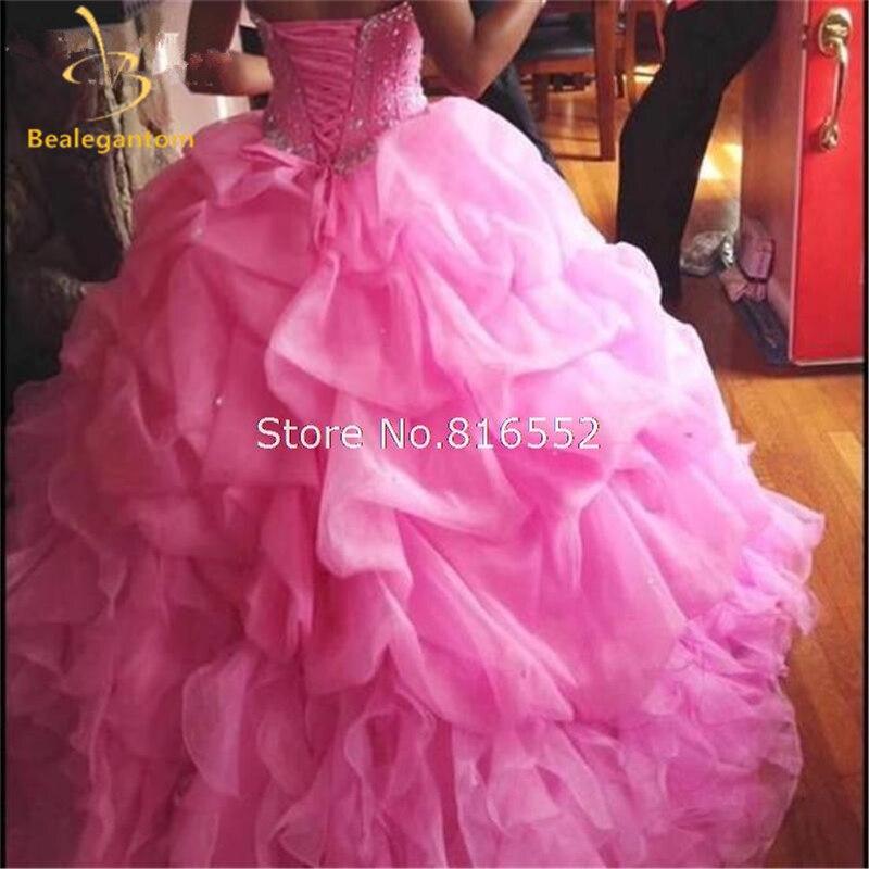 Novi seksi jeftini visoke kvalitete roza loptu haljina Quinceanera - Haljina za posebne prigode - Foto 2
