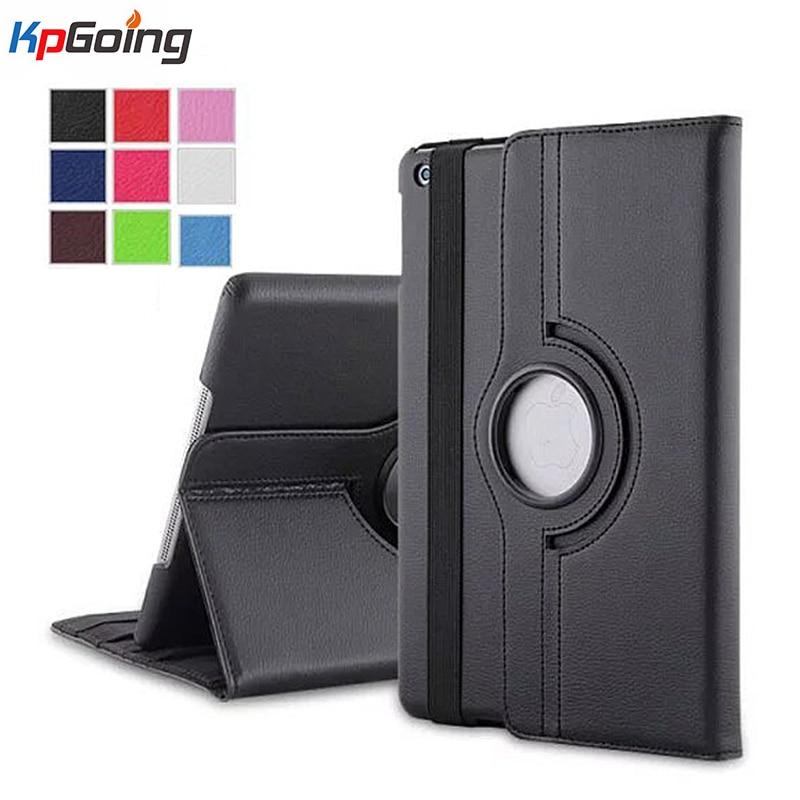 Fashion Case for IPad Mini 4 360 Rotating Litchi Leather Smart Cover Folio Stand Casual Style Case for IPad Mini 4 2015 Release