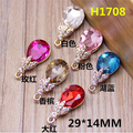 Newest Trendy Alloy Rhinestone leaves flowers decoration water drop shape Crystal jewelry charms diy necklace/earring pendants