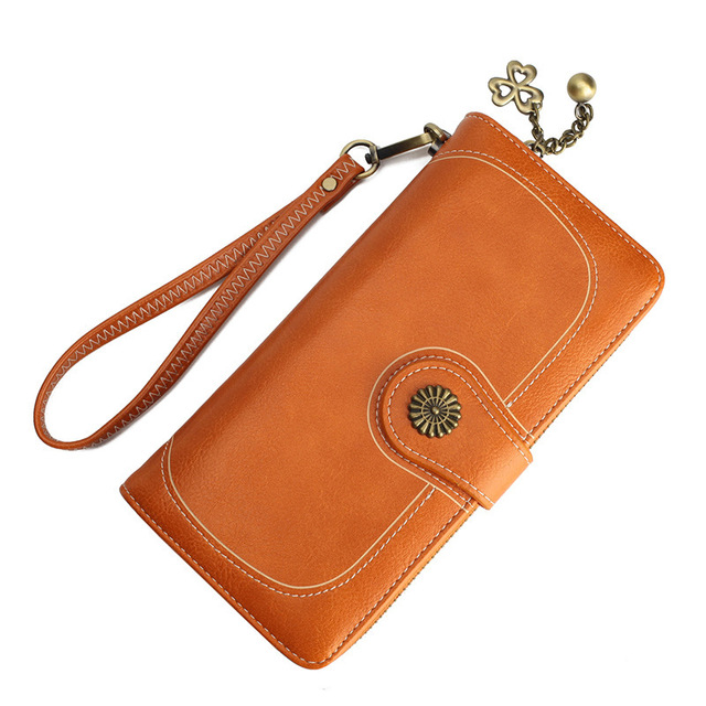 d9be5c25d39 Hot Sale! Brand Wallet Split Leather Wallet Female Long Wallet Women Zipper  Purse Strap Clutch Coin Purse Womens Purses Leather