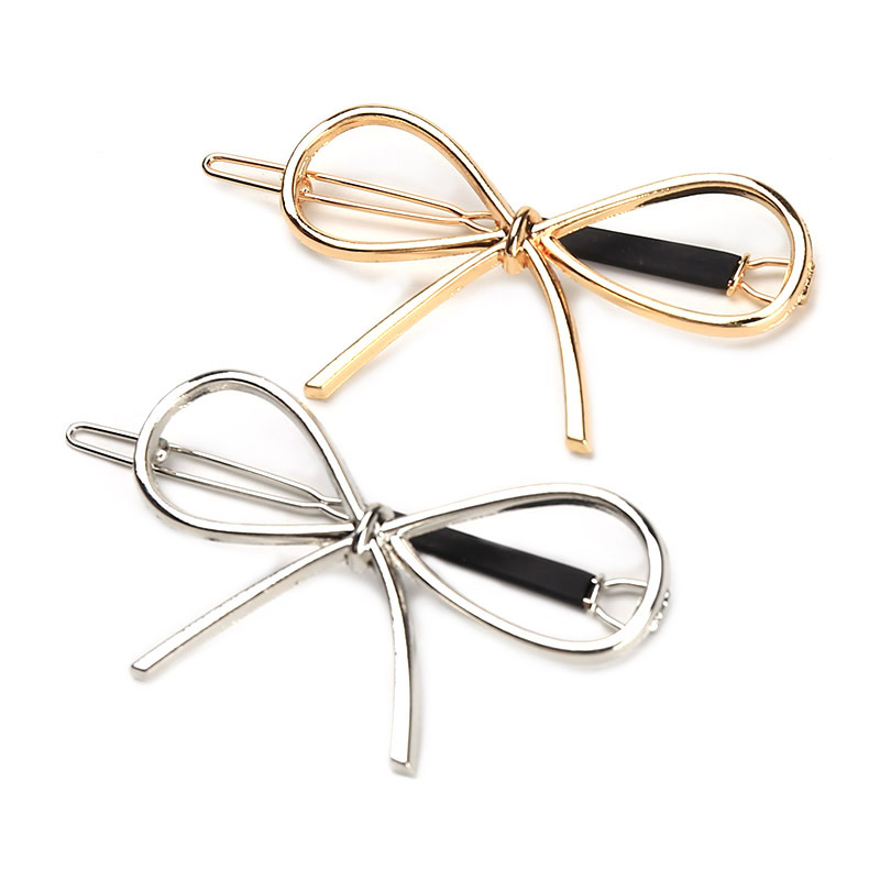 New Vintage Hairpins Metal Bow Knot Hair Barrettes Girls Women Hair Accessories Hairgrips New Brand Hair Holder Hair Clip(China)