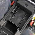 Preto caixa de armazenamento braço carro estiva tidying mini box para volvo xc60 s60 s60l v60 car styling