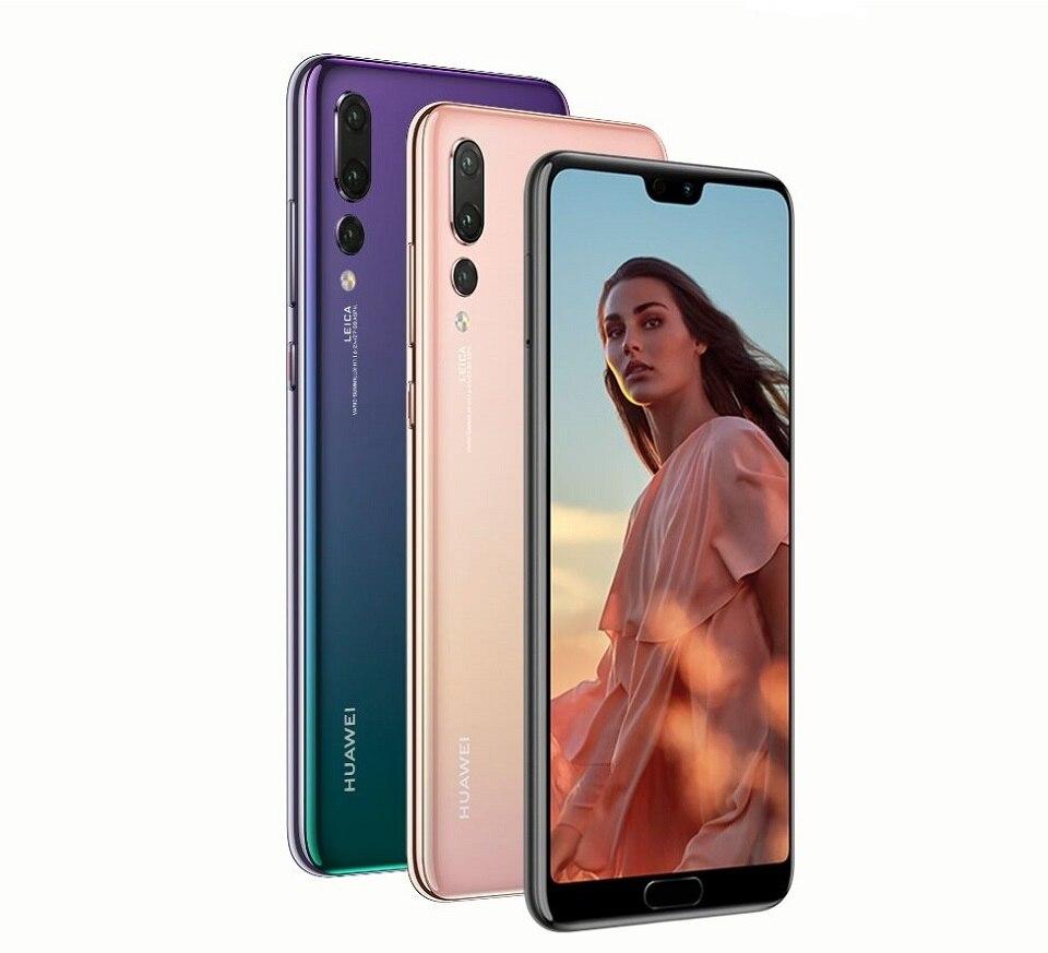 """В наличии huawei P20 Pro 6 ГБ 128 ГБ полный LTE Band смартфон 40MP тройной камеры заднего 6,1 """"полный вид Экран NFC Android 8,1"""