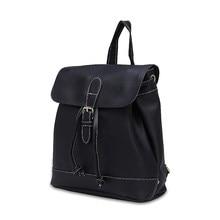 Для женщин рюкзак высокое качество из искусственной кожи Mochila Школьные сумки для подростков Обувь для девочек топ-ручка Рюкзаки Herald модные однотонные Сумки