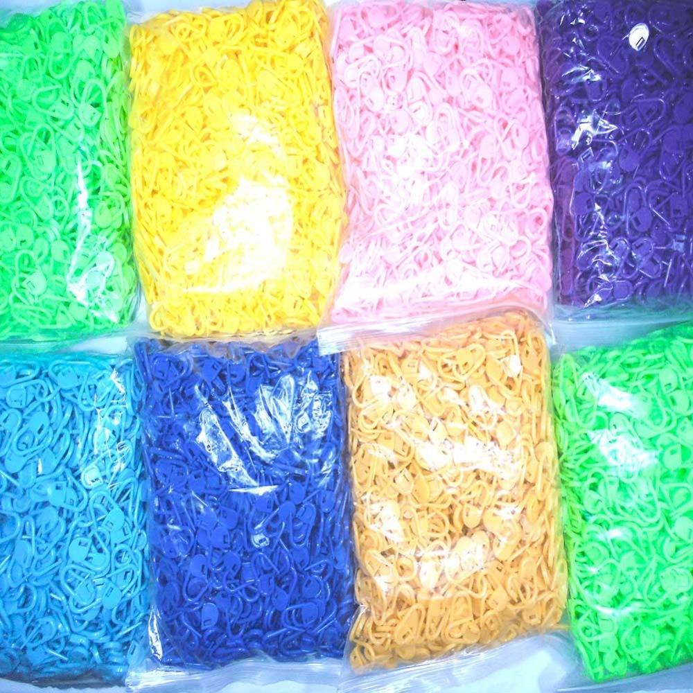 Commercio All'ingrosso 6000 Pz/borsa Colore Fibbia In Plastica Ago Di Lavoro A Maglia Crochet Chiusura Stitch Fibbie Markers Titolari Lavorato A Maglia Ricamo