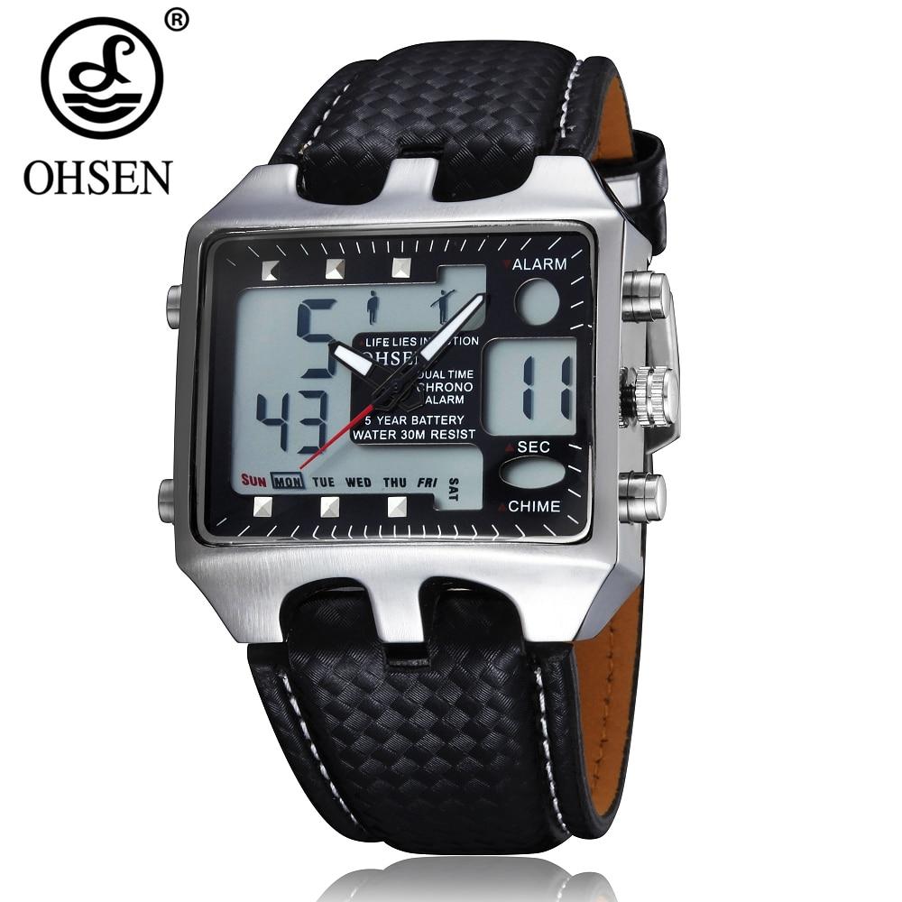 Original OHSEN Digital Analog Mens Watch