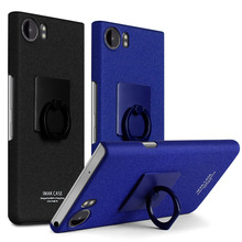 IMAK Cowboy Stand Case for BlackBerry KEYone Back Cover for BlackBerry Mercury Hard Matte Case with Ring Holder Screen Film