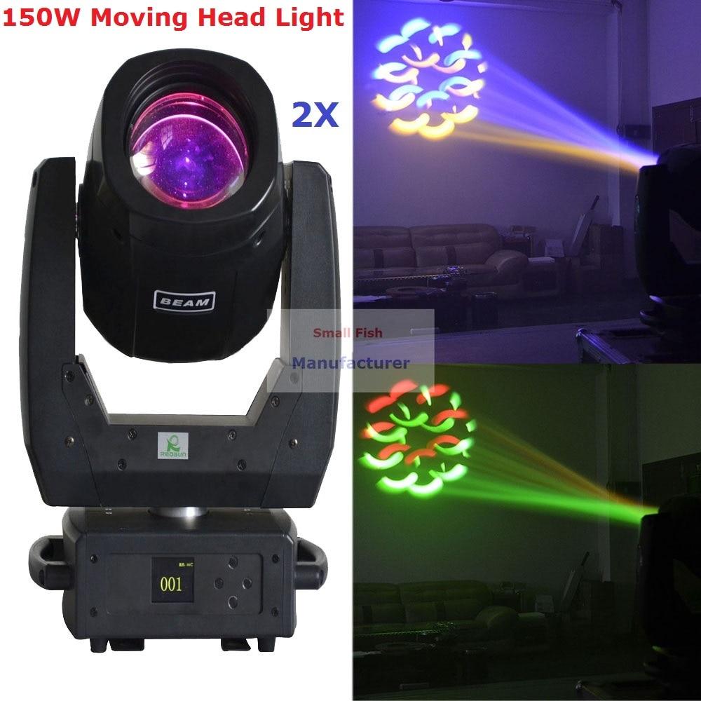 2XLot New 150W <font><b>LED</b></font> Spot Moving Head Light DMX512 13CHs <font><b>High</b></font> Brightness 150W <font><b>LED</b></font> Moving Head <font><b>Beam</b></font> Lights For Stage Disco Lights