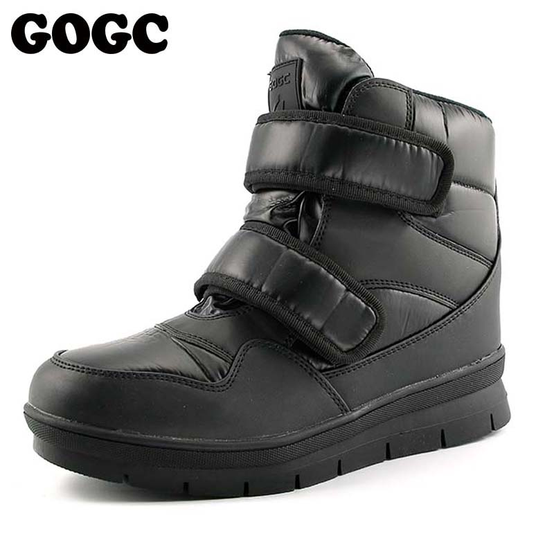 GOGC Warm Men Winter Ankle Boots Brand New Non-slip Winter Men Shoes High Quality Men Footwear Winter Boots Snow Boots Plus Size backcamel 2018 autumn winter new men s outdoor sports shoes high top non slip wear men boots high quality sneaker size 39 47