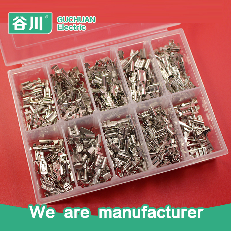 2.8 4.8 6.3 kinds of female terminal wire connector electrical crimp terminal tin-plated terminal kits hd 007 surface mounting silver plated surface crimp terminal current 10a male female 250v 7 pins connector