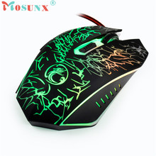 Mosunx Advanced 2017 high quality comfortable mini Adjustable 6 Buttons Optical USB Wired Gaming Game Mouse for PC Laptop 1PC