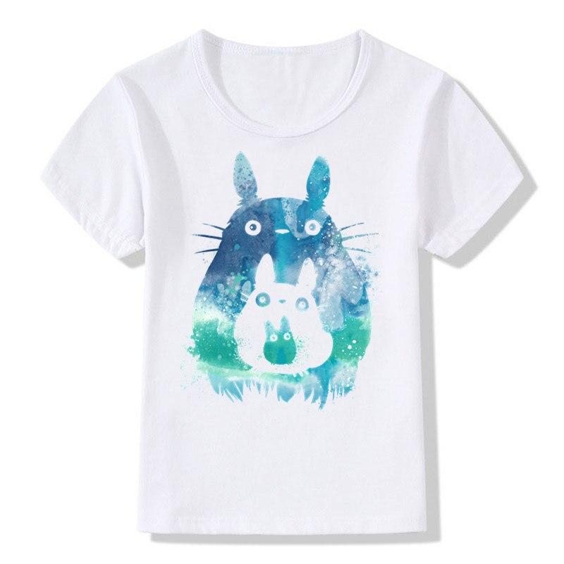 Boys And Girls Print Totoro Anime Lovely T Shirt Children Short
