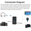 TS-BT35F18 Transmisor Inalámbrico Bluetooth y Splitter Adaptador Inalámbrico Bluetooth 4.1 A2DP Adaptador de Audio Reproductor de Audio Aux 3.5mm