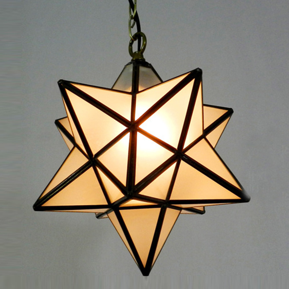 Cute Star Brief Gl Pendant Lamp Art Decors Bar Aisle Light Warm Lighting Nordic Rh Loft 30cm Dia Droplight In Lights From