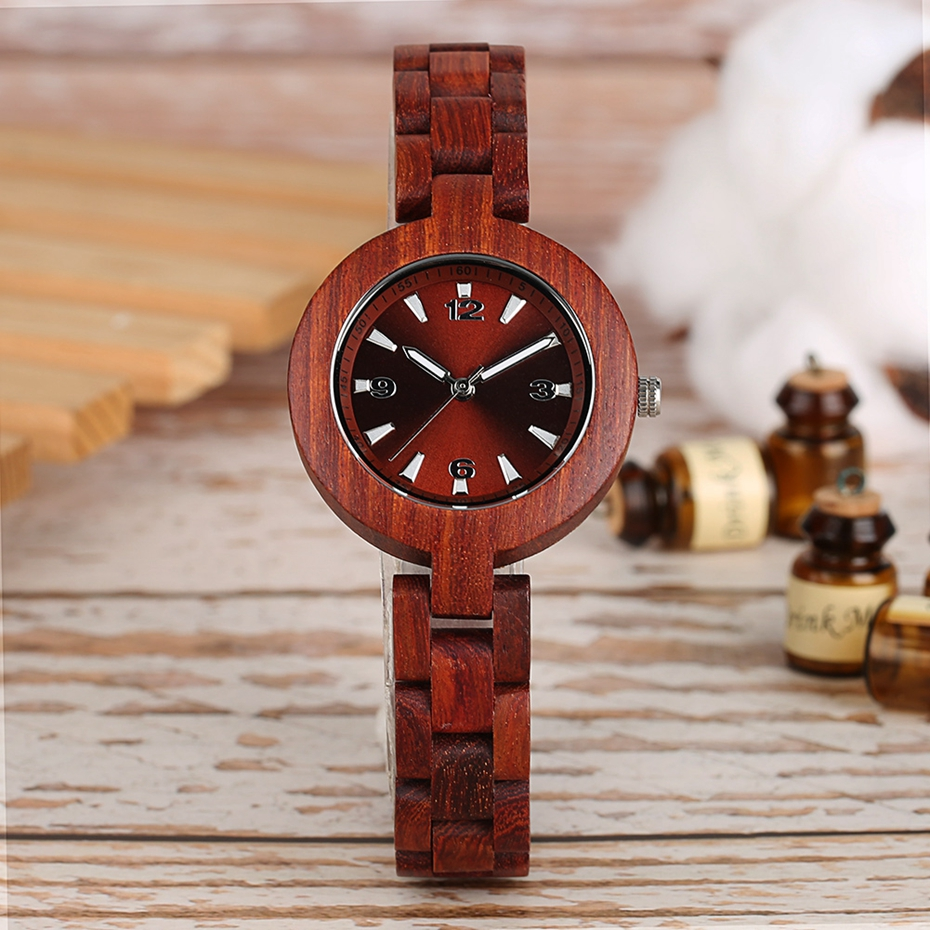 Women's Wood Watches Top Brand Unique Little Cute Dial Quartz Clock Ladies Dress Wooden Bangle Watch Environmentally reloj mujer 2018 2020 2019 (5)