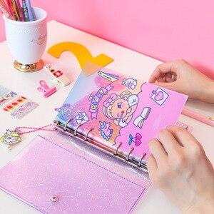 Image 3 - Śliczne Lollipop dziewczyna A6 pamiętnik Agenda Planner organizator dzielniki spiralne osobiste dziennik podróży notatnik koreańskie piśmiennicze