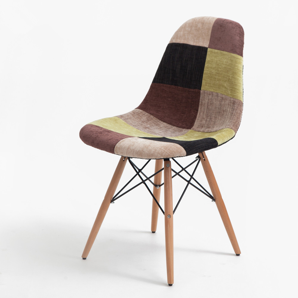 online get cheap wood upholstered chairs aliexpresscom  alibaba  - set of  multicolor modern style patchwork upholstered armchair diningchair wooden leg dining room eiffel side chair furniture