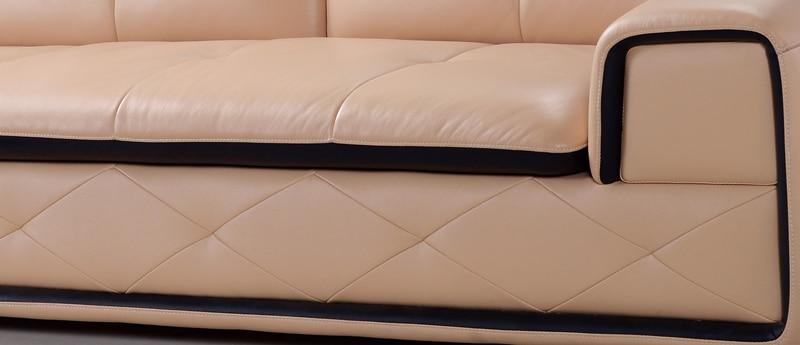 comprar eenuine sof de cuero de color amarillento moderno y de diseo elegante top ganado grano de cuero en forma de l sof de la esquina
