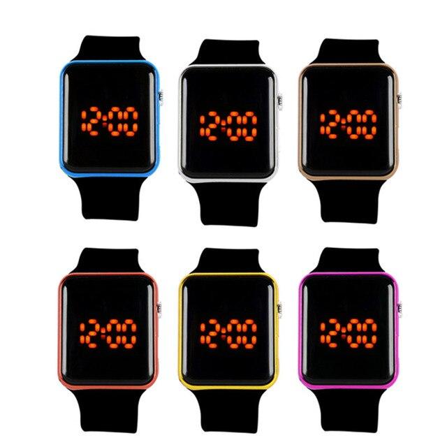 Montre numérique hommes femmes Silicone LED Sport montre-Bracelet numérique 1