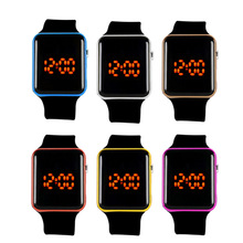 Watche Pulseira de Pulso JAVRICK Digital Assista Men Womens LED Silicone Esporte Digital
