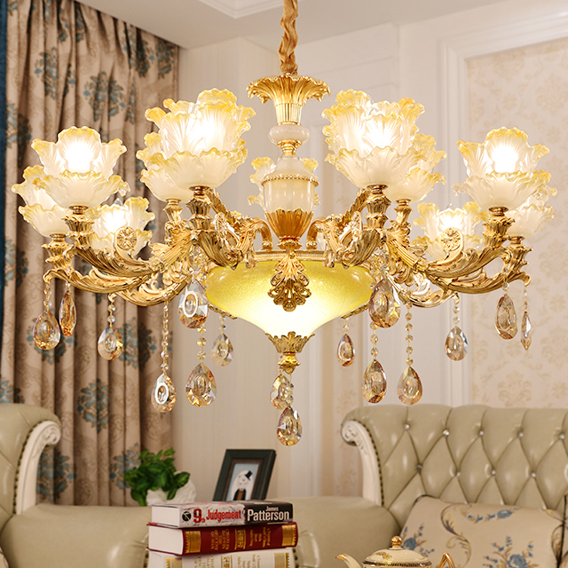 цена на Contemporary Chandeliers For Living Room Gold Crystal Chandelier Modern Hanging Lamps for Dining Room Lights Decoration Lamps