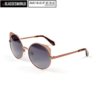 Fashion cat eyewear women sunglasses with high quality Alloy Polarized sun glasses CA2014012