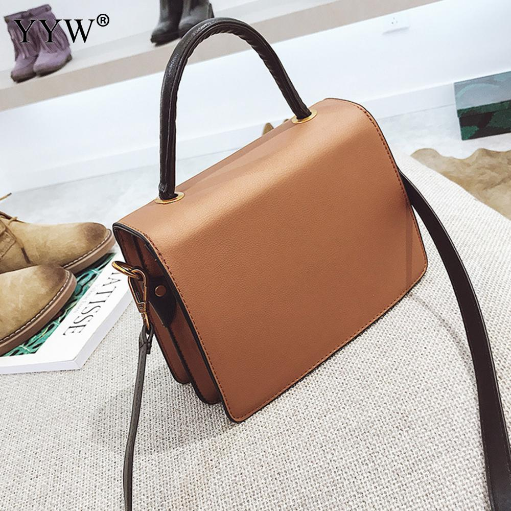 19467c7a594 YYW Fashion Pu Leather Women Shoulder Handbag One Strap Women S Crossbody  Bags Wonderful Beautiful Contrast Color Bolsas -in Top-Handle Bags from  Luggage ...