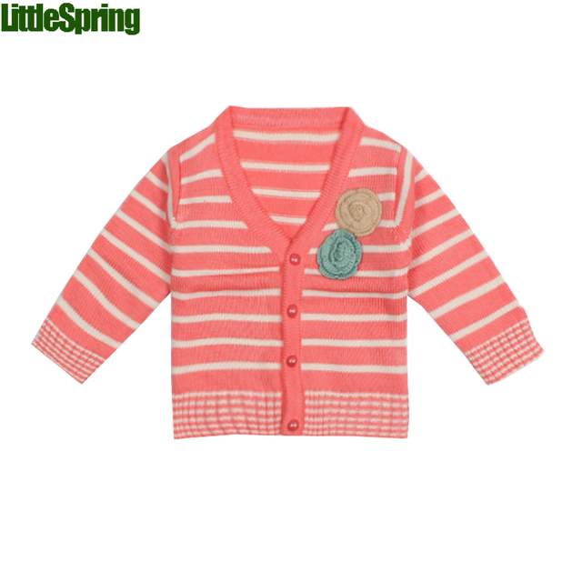 LittleSpring Children's spring autumn cardigan long sleeve outerwear sweater children's clothing