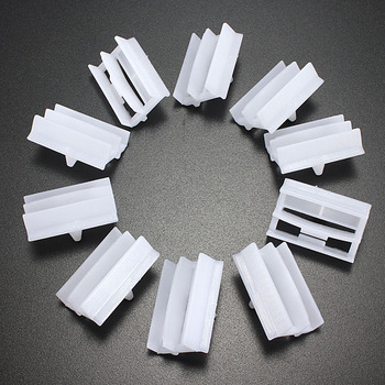 10pcs Plastic Exterior Sill Skirt Trim Clips For BMW 3 Series E36 E46 E90 E91 1990-2000 image