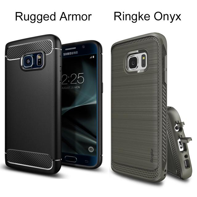 Original sgp armadura resistente casos para galaxy s7 ringke ónix case durable flexible defensiva de tpu casos de la cubierta para samsung galaxy S7