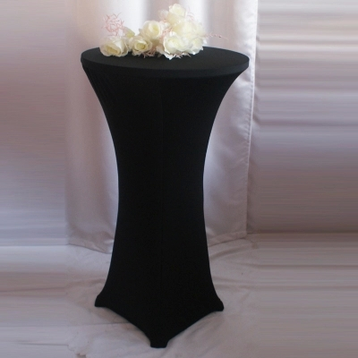 Charming Hotsale Black Spandex Cocktail Table Cover(China (Mainland))