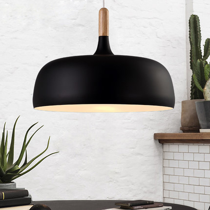 Nordic Modern Aluminum Droplight White Black Anese Round Tray Pendant Lights Fixture Home Indoor Dining Room Bedroom Lighting In From