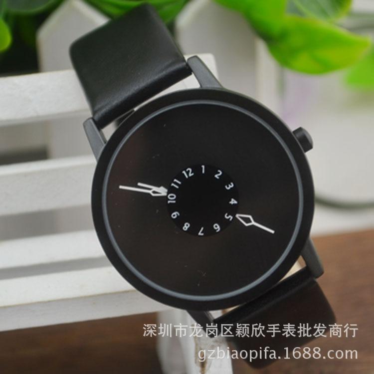 Leather Watch Women dress watches hour clock men fashion Casual watch Unisex Quartz watch relogio font