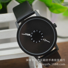 Mira los relojes de vestir de cuero horas reloj de los hombres de moda Casual watch Unisex reloj de Cuarzo relogio relojes W0706